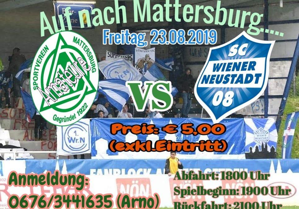 Fanfahrt nach Mattersburg