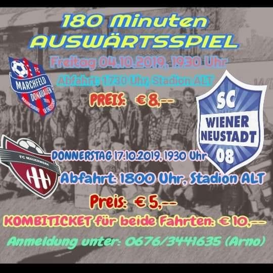 Fanfahrten nach Mannsdorf und Wien